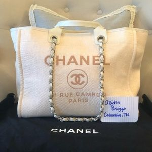 💗💗💗Pink Chanel Deauville Shopping Tote💗💗💗